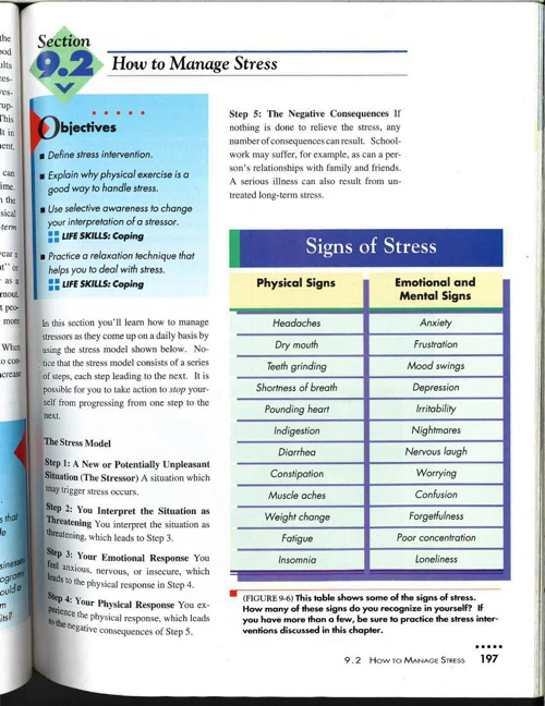 Copy of Manage Stress Page pg 197