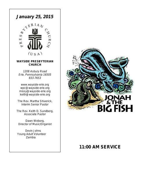 1-25-15 11AM Worship