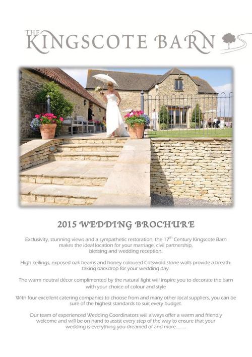 2015 Wedding Brochure