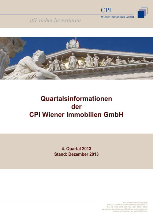 Quartalsinformationen Wiener Immobilien GmbH 4. Quartal 2013