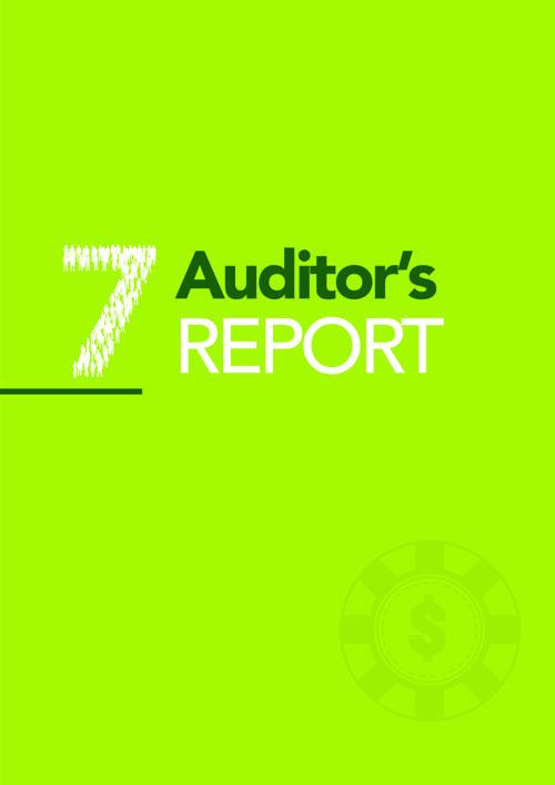 7. AUDITORS REPORT