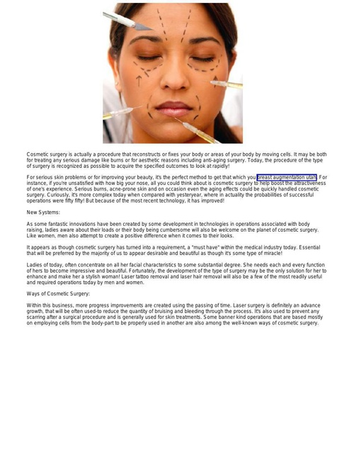 Plastic Surgery - Reshaping Your Life