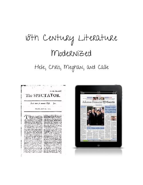 18th Century Literature Modernized