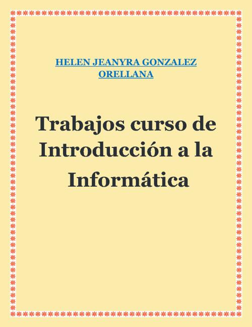 RECOPILACION DE TAREAS DE INTRODUCCIÓN A INFORMATICA