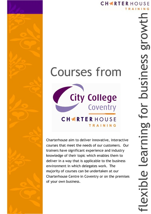 Charterhouse Courses 2012