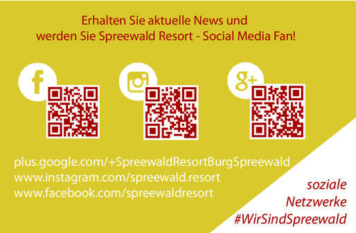 Visitenkarte Spreewald Resort - Social Media