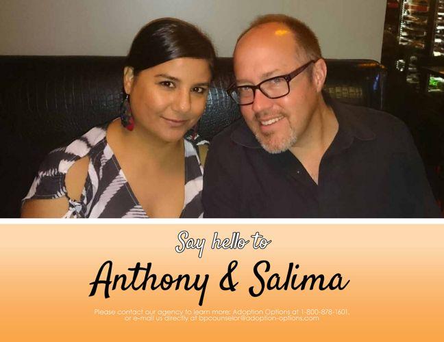 Anthony and Salima's Adoptive Family Profile