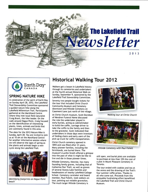 Lakefield Trail Newsletter