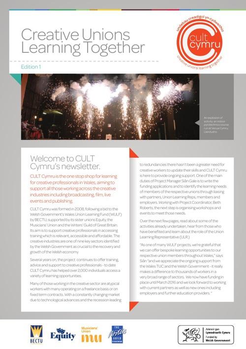 CULT Cymru Newsletter 2013