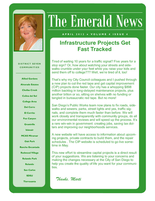 The Emerald News: Volume 4, Issue 4 (April 2012)