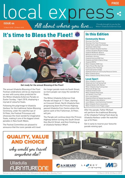 Issue 44: 12 March 2018 - 25 March 2018