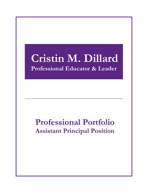 Ariton School Portfolio - Assistant Principal