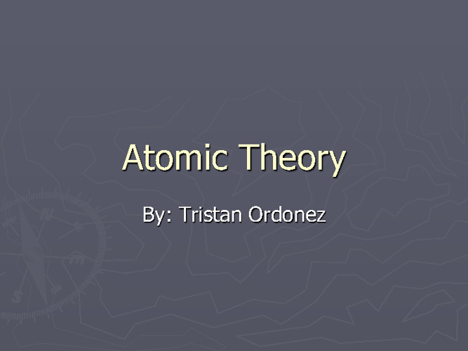 Atomic theory Timeline Booklet