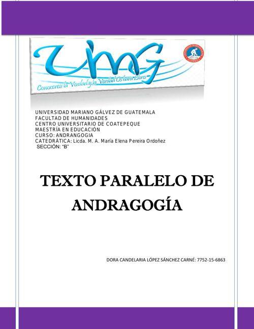 Libro Andragogía