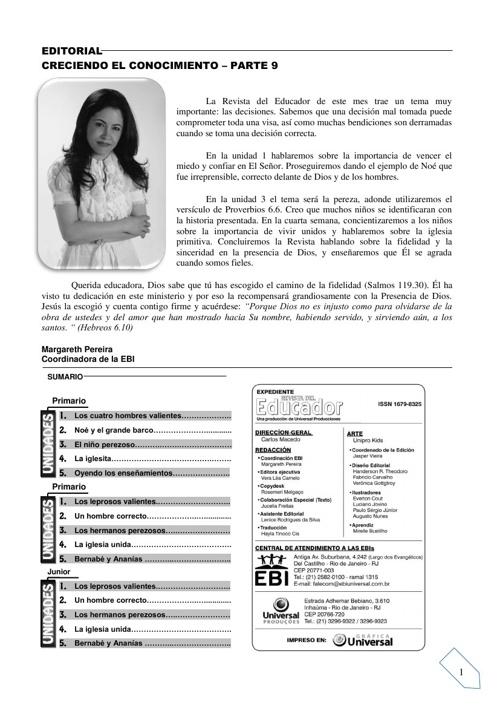 REVISTA DEL EDUCADOR - MES DE OCTUBRE