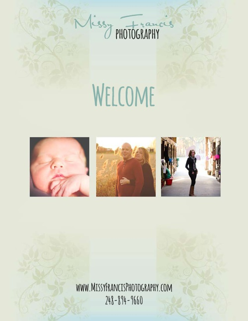 Missy Francis Photography Client Welcome Guide
