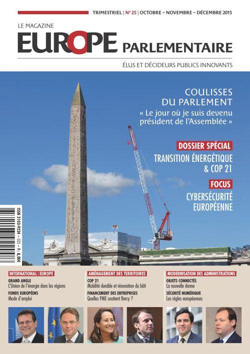 Magazine Europe parlementaire N° 25 élus et décideur publics inn