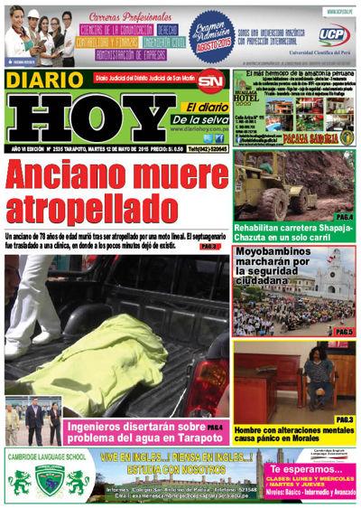 Diario HOY 12 DE Abril 2015