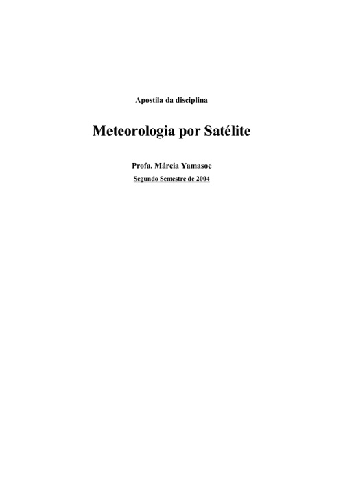 Metereologia por Satélite