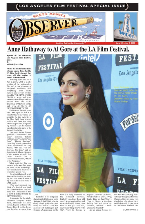 LOS ANGELES FILM FESTIVAL SPECIAL ISSUE