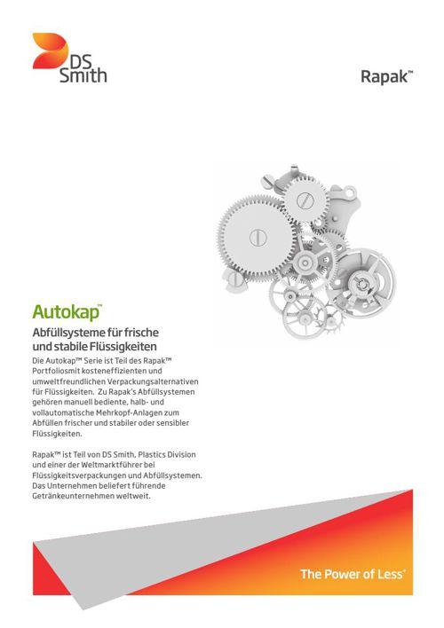 autokap Abfüllsysteme für frische  und stabile Flüssigkeiten