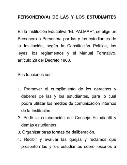 PERSONERO ESTUDIANTIL I.E.PALMAR