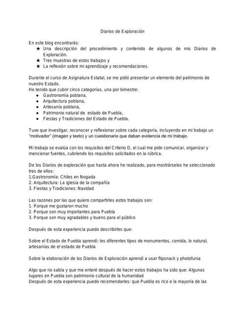DIARIO DE EXPLORACIÓN BLOG ASIGNATURA.