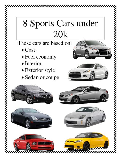 Sports Cars Under $20,000