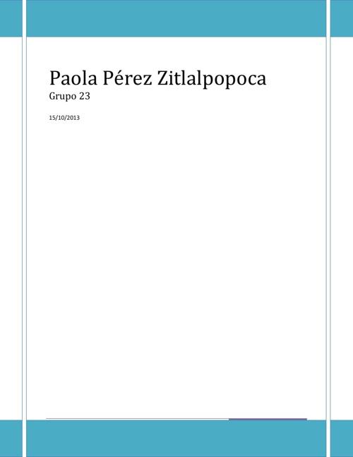 Paola Pérez Zitlalpopoca