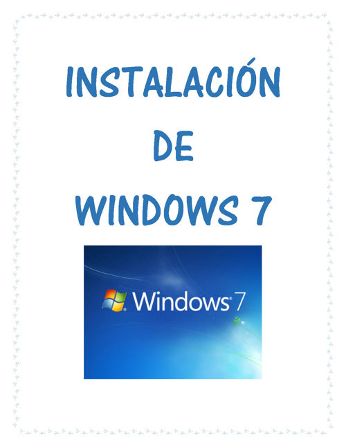 Instalacion de windows 7