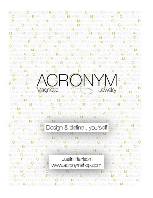 Acronym Magnetic Jewelry Lookbook - Full Page