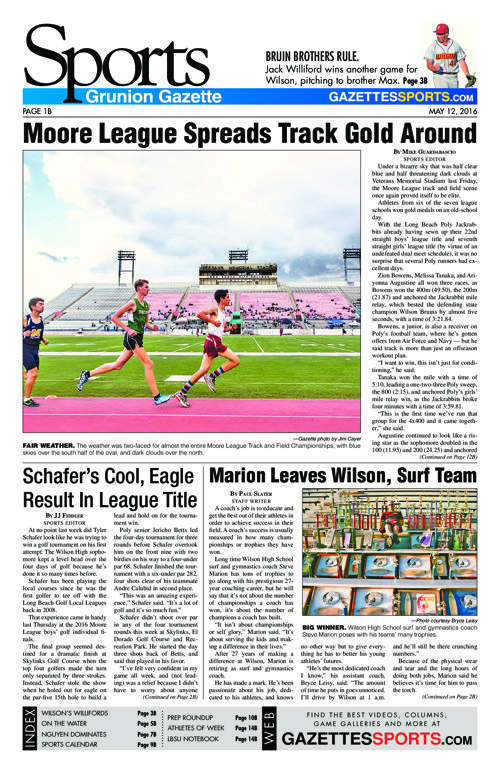 Gazette Sports | May 12, 2016