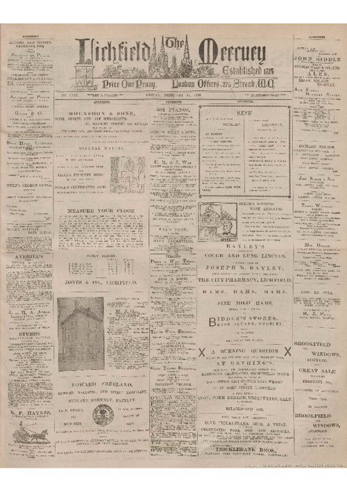 February 17th 1899 - Lichfield Mercury