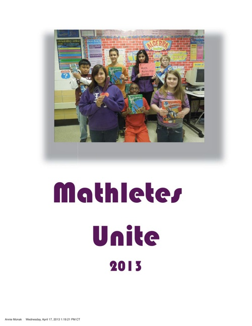 Mathletes Unite 2013
