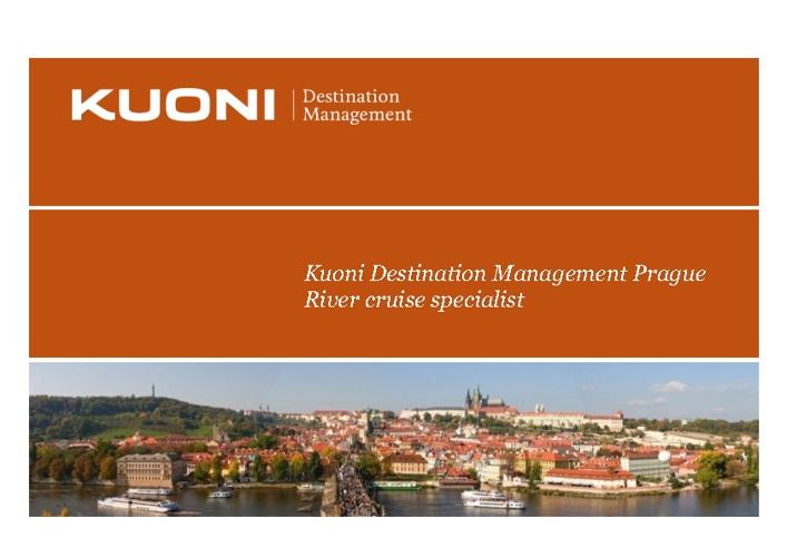 KUONI Prague 2012 River Cruise Brochure