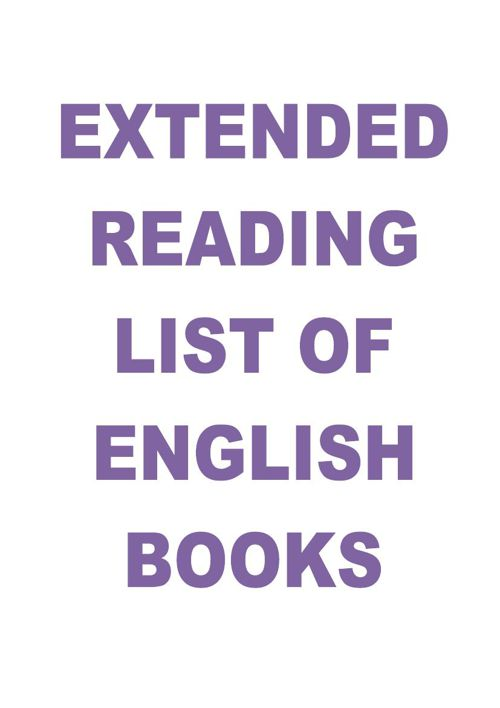 Extended Reading List of English Books