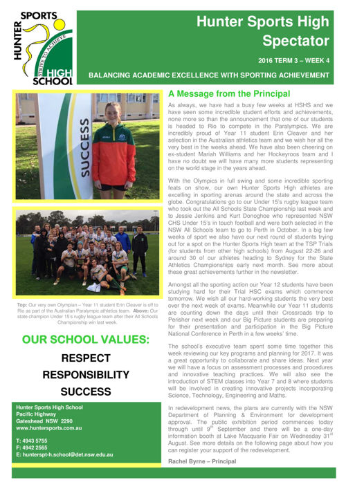 Term 3 Week 4 Newsletter 2016