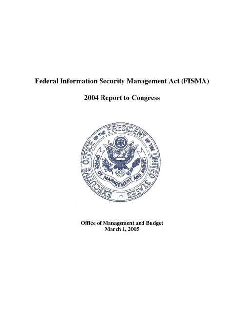 2004 Federal Information Security Management Act