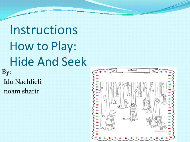 Instructions IN - Ido & Noam
