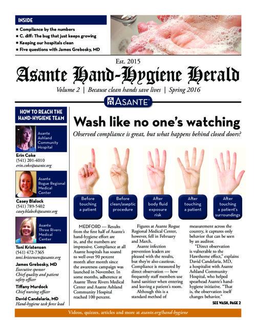 Asante Hand Hygiene Herald Vol 2