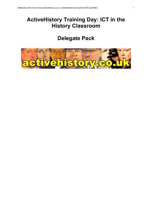 ActiveHistory Delegate Handbook