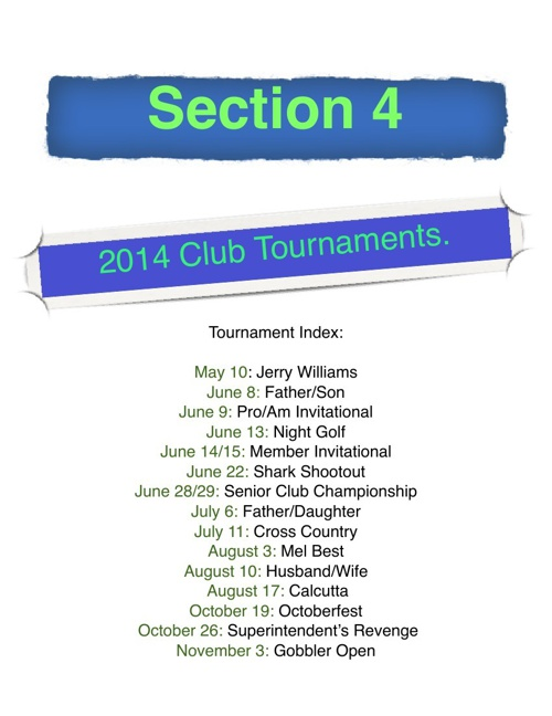 2014 Club Tournaments Section 4