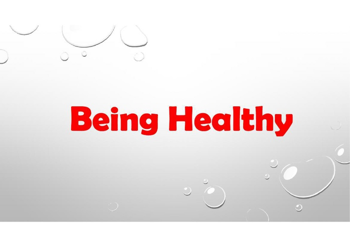 being healthy vle