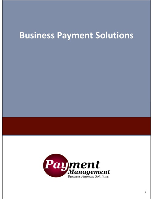 Payment Management - Business Payment Solutions
