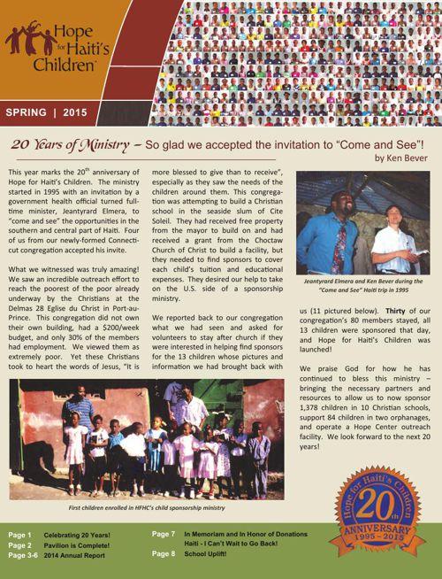 HFHC 2015 Spring Newsletter