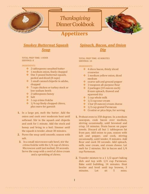 Thanksgiving Cookbook 2013