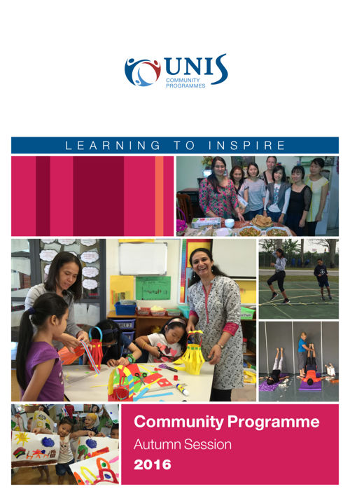 Community Programmes Brochure Autumn Session 2016 update