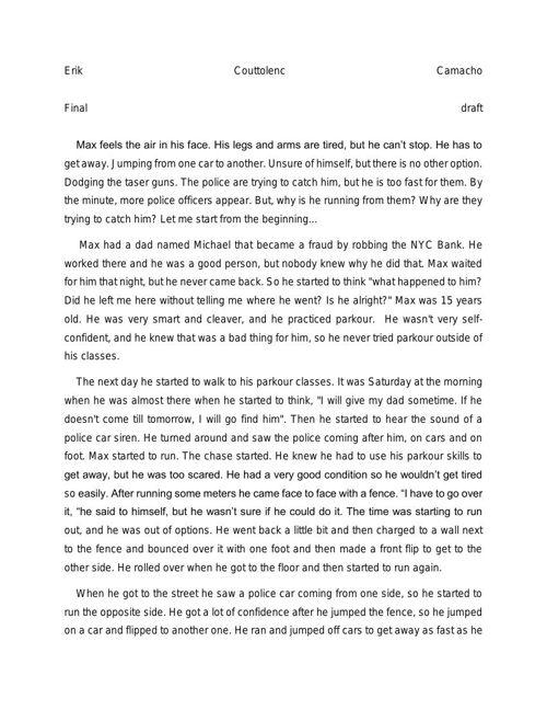 erik short story
