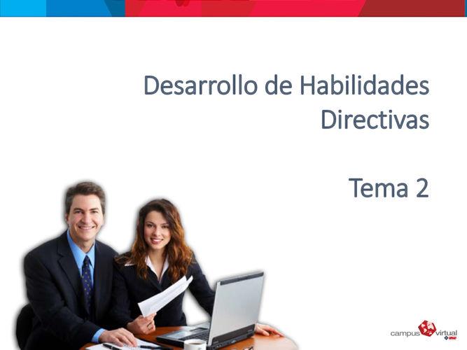 Habilidades directivas tema 2
