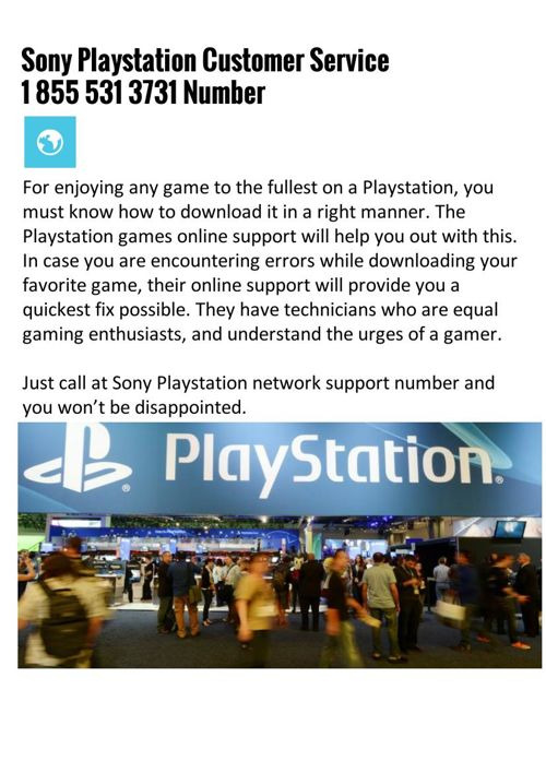 Sony Playstation Customer Service